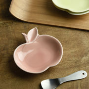 深山 apple りんご豆小皿 桃/pink[美濃焼]