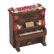 【 アップライトピアノ型ミニオルゴール (ブラウン) 】 ♪ノクターン