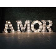 AMERICAN SIGN WITH LIGHT 「AMOR」