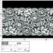 【メーカー直販】★レース巾14cm 透け感のある大きめの花柄レース♪ 5m~/オフ白
