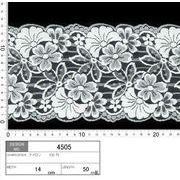 【メーカー直販】★レース巾14cm 透け感のある3連花柄レース♪ 5m~/オフ白