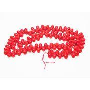 天然石 ビーズライン 卸売  /シーバンブー・海竹珊瑚 赤色・レッド ドロップビーズ