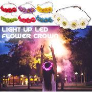 LEDフラワークラウン Light Up LED Flower Crown 光るフラワーバンド