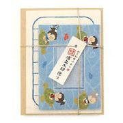 【新登場!日本製!伊予和紙を使用!日本の昔話をテーマにした!ふわりミニレターセット!】浦島太郎便り