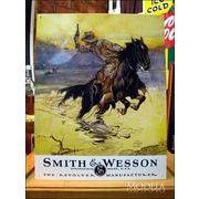アメリカンブリキ看板 スミス&ウェッソン 馬上の銃撃戦
