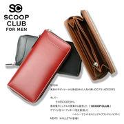 ★SC-303★SCOOP CLUB スムースボンデッドレザーラウンド長財布