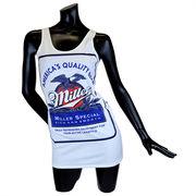 Miller(ミラービール) クルーネックワンピース【ホワイト】
