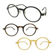 【TY2911】ラウンドタイプ★大人気!!シンプル伊達メガネ【3色展開♪】 まんまる/丸メガネ