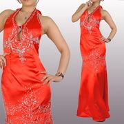 胸元大胆開き キラキラゴージャスドレス