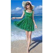 【初回送料無料】砂浜ファッションワンピ★オレンジ/グリーン2色◇too-ou3839-201