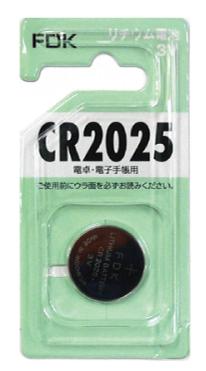 FDK リチウムコイン電池 3V・CR2025 Fu-25