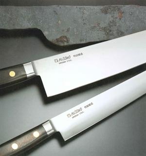 最高牛ハガネ材スウェーデン鋼使用 ミソノ カーボン鋼牛刀シリーズ