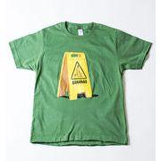 キッズ デザインTシャツ この先バナナ有 スリップ注意