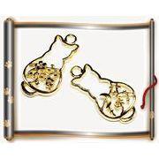 【ヒロテックオリジナル】アンティークパーツ 猫フレーム 猫チャーム猫雑貨 30円⇒22円