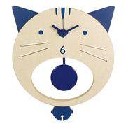 猫木製振子時計