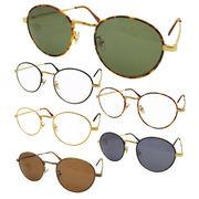 SALE!!【TY804】ボストンタイプ★メタル伊達メガネ&サングラス【6色♪】 丸メガネ/眼鏡/まるめがね