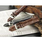 【腕時計 交換用ベルト】本革カーフレザー・クロコ型押し・替えベルト[20mm・22mm×3色] MFCRM35