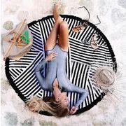 エスニック★海雰囲気★ラウンドマット夏新品★大人気ビーチサテン★ラウンドビーチスカーフ