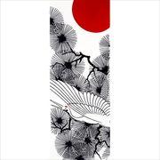 プレーリードッグ 日本製 注染手ぬぐい 冬模様 丹頂鶴