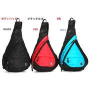 SWISSWIN 正規代理店 ボディバッグ 男女兼用 3色 ブラックロゴ SW9966 10L  斜め掛けバッグ
