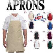 OTTO 7.5oz. Two Pocket Full Length   Adjustable Bib Cotton Twill Aprons-803 401 14464