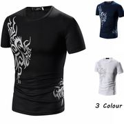 Tシャツ 半袖 クルーネック カットソー 3色 大きいサイズ 100857