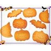 【デコパーツ】こんがり ハロウィンクッキーパーツ4種セット カボチャ/お化け/コウモリ