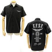 コスパ 機動戦士ガンダム 地球連邦軍ワッペンベースワークシャツ