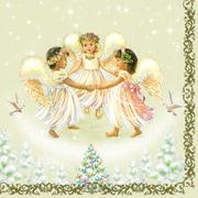 Maki  ペーパーナプキン クリスマス 天使のダンス