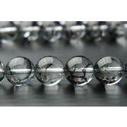 【クラック水晶(黒)】 10mm 1連(約38cm)_R775-10/A6-6