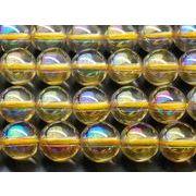 【水晶シャンパンオーラ】 8mm 1連(約38cm)_R946/A6-4