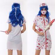 【即日出荷】血まみれ マスク ナース服 ゾンビ ホラー系 コスプレ衣装 ハロウィン【5195/3】