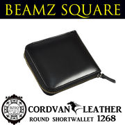 BEAMZSQUARE 馬革ラウンドファスナー短財布 BS-1268 ブラック