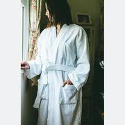 Miyabi ホテル仕様高級バスローブ無地、男女兼用