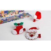 クリスマス新品/ベビー用品/ベビーアクセサリー/かわいいヘアピン/サンタクロースヘアピン