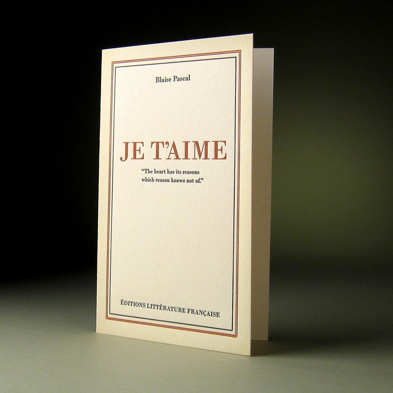 oblation papers&press 活版印刷カードfrench lit フランス語シリーズ