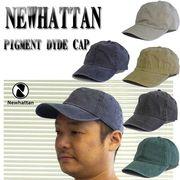 ★5カラー♪NEWHATTAN COTTON PIGMENT DYDE CAP  13384
