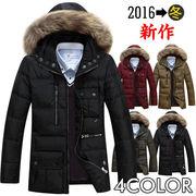 ダウンジャケット メンズ ファーフード ショート キルティングコート アウター ブルゾン 厚手 防寒