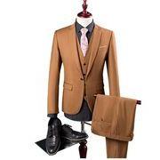 3ピーススーツ メンズ スーツセットアップ 1ボタン スリム 紳士服 パーティー 二次会 結婚式