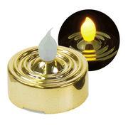 YuRa LEDティーライト キャンドル ゴールド(発光色:黄色)(ディスプレイBOX付)