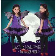 子供 キッズ 魔女 蝙蝠魔コスチューム 女の子 コスプレ ハロウィン 衣装