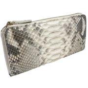 Santa Maria サンタマリア製 パイソン 蛇革 財布/L型ファスナー長財布(4940)ナチュラル
