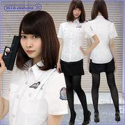 ■送料無料■ミニスカポリス 婦人警官 色:白 サイズ:M/BIG