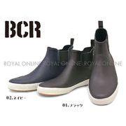 32%OFF【BCR】 BC-131 プレーントゥ レースアップ サイドゴア レインブーツ 全2色 メンズ