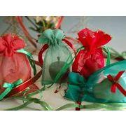 シルクのギフトバッグ クリスマスカラー