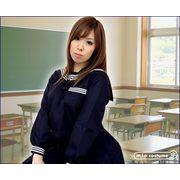 ■送料無料■長袖セーラーブラウス単品 サイズ:M/BIG 色:紺 ■冬服セーラー■