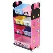 【ケース販売は送料無料!!】錦化成 おもちゃ箱 ミニーマウス トールトイステーション ピンク (P-fri)