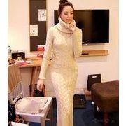【即納】タートルネックワンピース全4色★v-g741b-660【自社工場】レディース/ドレス