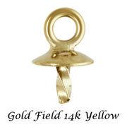 ゴールドフィルド イエロー ペンダントパーツ ヒートン/ループ/ヘッドパーツ 皿:3mm/4mm/5mm