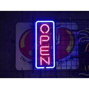 縦長オープン M  (ネオン管 看板 アメリカン雑貨 ・NEON SIGN・ネオンサイン)